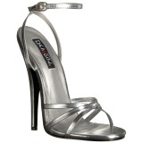 Silver 15 cm DOMINA-108 fetish high heeled shoes