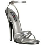 Silver 15 cm Devious DOMINA-108 högklackade sandaletter