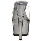 Silver 18 cm ADORE-701G Glitter Platå Höga Slip in Mules