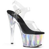 Silver 18 cm ADORE-708HGI Hologram platå klackar skor