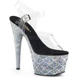 Silver 18 cm ADORE-708MSLG glittriga platå sandaler skor