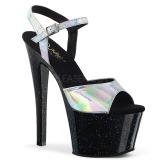 Silver 18 cm SKY-309HG Hologram platå klackar skor