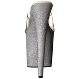 Silver 20 cm FLAMINGO-801SDG Glitter Platå Höga Slip in Mules