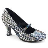 Silver 7,5 cm MERMAID-70 pumps skor med låg klack