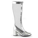 Silver 8,5 cm GOGO-307 maska stövlar för dam med hög klack