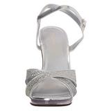 Silver Glitter 12 cm FLAIR-419G Högklackade Dam Sandaletter