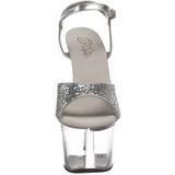 Silver Glitter 18 cm SKY-310 Platå Högklackade Sandaler Skor