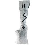 Silver Glitter 34 cm VIVACIOUS-3016 Thigh High Boots for Drag Queen
