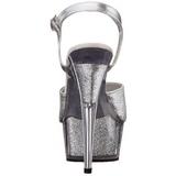 Silver Glittra 15 cm DELIGHT-609-5G Högklackade Sandaletter