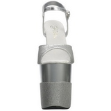 Silver Glittra 20 cm FLAMINGO-809-2G Höga Klackar Platå