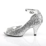 Silver Glittrig 7,5 cm BELLE-381G pumps klackskor för män