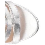 Silver Konstläder 10 cm DREAM-438 stora storlekar stövletter dam