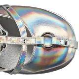 Silver Konstläder 13 cm POISON-25-2 lolita stövletter kilklackar platå