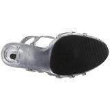 Silver Lackerade 12 cm FLAIR-420 Högklackade Dam Sandaletter
