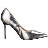 Silver Matt 10 cm CLASSIQUE-20 spetsiga pumps med stilettklackar