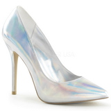 Silver Matt 13 cm AMUSE-20 Dam Pumps Stilettskor