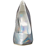 Silver Matt 13 cm AMUSE-20 spetsiga pumps med stilettklackar