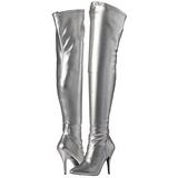 Silver Matt 13 cm SEDUCE-3000 Lårhöga Overknee Stövlar för Män