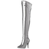 Silver Matte 13 cm SEDUCE-3000 overknee high heel boots