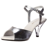 Silver Matte 8 cm BELLE-309 High Heels for Men