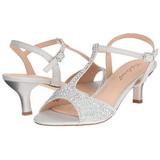 Silver Rhinestone 6,5 cm AUDREY-05 High Heeled Evening Sandals