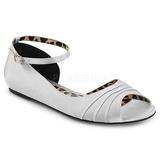 Silver Satin ANNA-03 stora storlekar ballerina skor