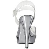 Silver Transparent 13 cm COCKTAIL-508 Platå Högklackade Sandaler Skor