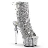 Silver glitter 18 cm ADORE-1018G dam stövletter med platåsula