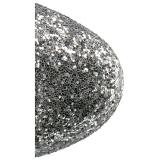 Silver glitter 18 cm ADORE-1020G dam stövletter med platåsula