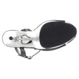 Silver krom platå 15 cm DELIGHT-609 pleaser höga klackar för kvinnor