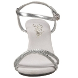 Silver strass stenar 8 cm BELLE-316 klackskor för män