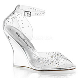 Strass stenar 10,5 cm LOVELY-430RS Wedge Sandaletter med Kilklack