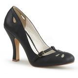 Svart 10 cm SMITTEN-20 Pinup pumps skor med låg klack