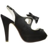 Svart 11,5 cm BETTIE-03 Pinup pumps skor med dold platå
