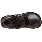 Svart 11,5 cm KERA-08 lolita skor goth wedge platåskor med kilklack