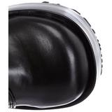 Svart 11 cm CONCORD-108 lolita stövlar goth platå tjock sula