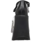 Svart 13,5 cm DYNAMITE-03 lolita skor goth wedge platåskor med kilklack