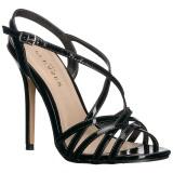 Svart 13 cm Pleaser AMUSE-13 högklackade sandaletter