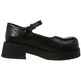 Svart 5 cm CRUX-07 lolita skor goth dam platåskor med tjock sula