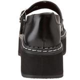 Svart 5 cm EMILY-306 lolita skor goth dam platåskor med tjock sula