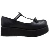 Svart 6 cm SPRITE-03 lolita skor goth platåskor med tjock sula