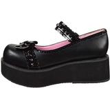 Svart 6 cm SPRITE-04 lolita skor goth platåskor med tjock sula