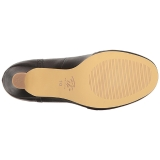 Svart 7,5 cm FLAPPER-35 Pinup pumps skor med låg klack