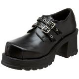Svart 7 cm TRUMP-101 lolita skor goth dam platåskor med tjock sula