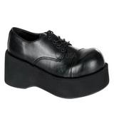 Svart 8,5 cm DANK-101 lolita skor goth dam platåskor med tjock sula