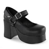 Svart 9,5 cm ABBEY-02 lolita skor goth platåskor med tjock sula