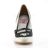 Svart 9,5 cm POPPY-18 Pinup pumps skor med låg klack