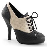 Svart Beige 11,5 cm retro vintage CUTIEPIE-14 Oxford Pumps skor för kvinnor