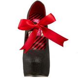 Svart Glitter 14,5 cm Burlesque TEEZE-04G damskor med hög klack