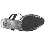 Svart Glittra 15 cm DELIGHT-609-5G Högklackade Sandaletter